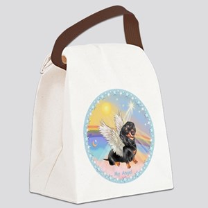 Clouds/Dachshund Angel Canvas Lunch Bag