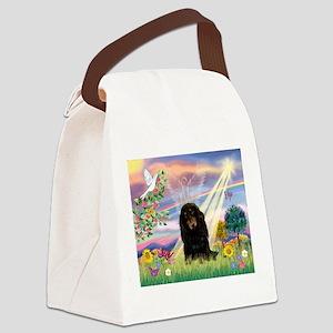 Cloud Angel /Dachshund Canvas Lunch Bag