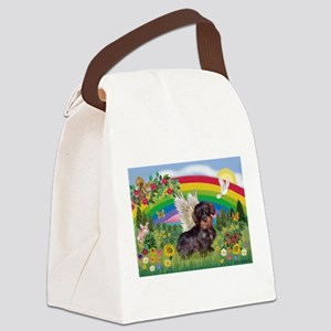Rainbow Bright / Dachshund (w Canvas Lunch Bag