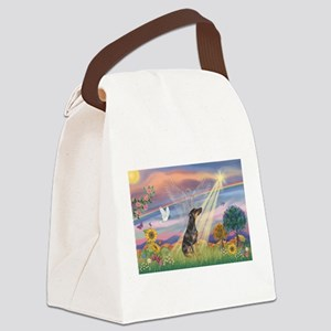 Cloud Angel - Dobie (B) Canvas Lunch Bag