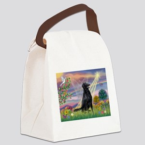 Cloud Angel / Flat-Coated Ret Canvas Lunch Bag