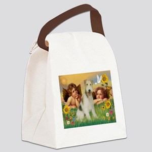 Angels & Wire Fox Terrier Canvas Lunch Bag