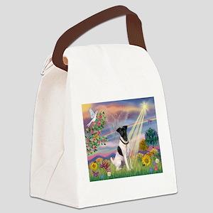 Cloud Angel / Fox Terrier Canvas Lunch Bag