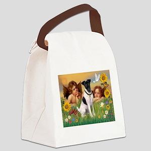 Cherubs / Fox Terrier (s) Canvas Lunch Bag