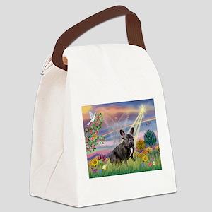 Cloud Angel / Fr Bulldog (bl Canvas Lunch Bag
