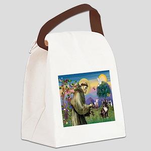St Francis / Fr Bulldog (brin Canvas Lunch Bag