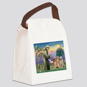 St Francis / 3 Goldens Canvas Lunch Bag