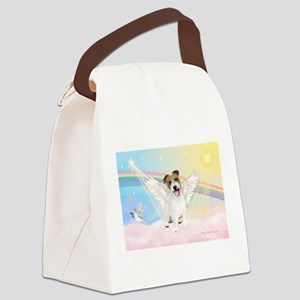 Angel /Jack Russell Terrier Canvas Lunch Bag