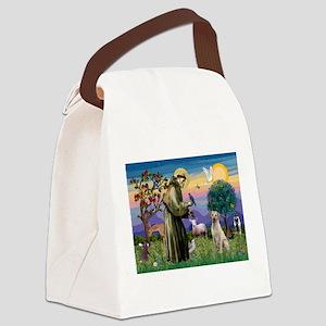 St Francis / Lab (y) Canvas Lunch Bag
