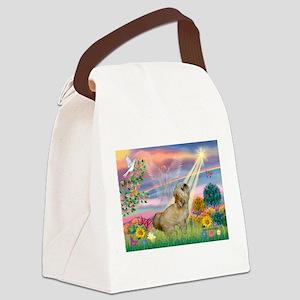 Cloud Angel / Lhasa Apso Canvas Lunch Bag