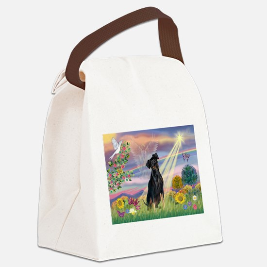 Cloud Angel / Miniature Pinsc Canvas Lunch Bag
