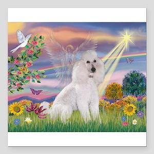 Cloud Angel /Poodle std (w) Square Car Magnet 3&qu