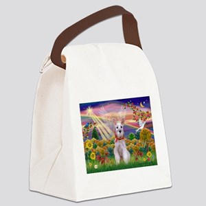 Autumn Angel Schnauzer Canvas Lunch Bag