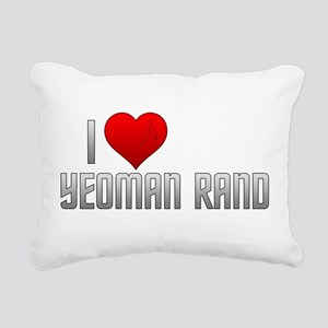 I Heart Yeoman Rand Rectangular Canvas Pillow