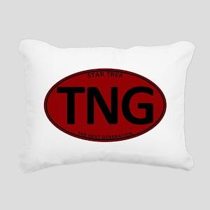Star Trek: TNG Red Oval Rectangular Canvas Pillow