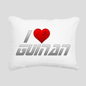 I Heart Guinan Rectangular Canvas Pillow