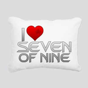 I Heart Seven of Nine Rectangular Canvas Pillow