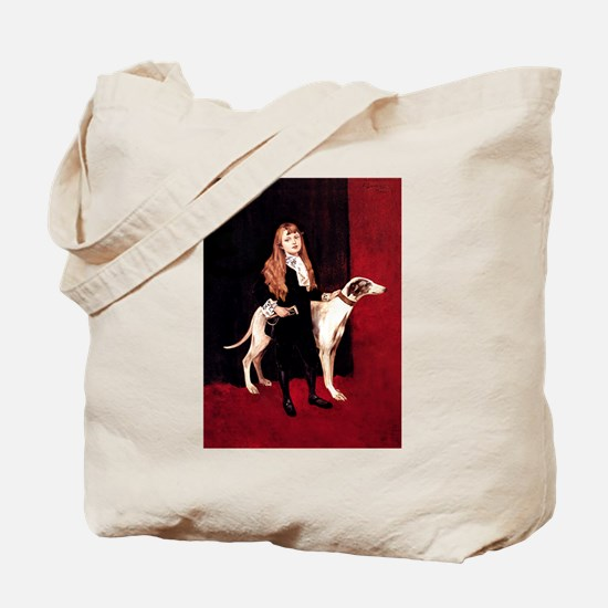 GREYHOUND & GIRL Tote Bag