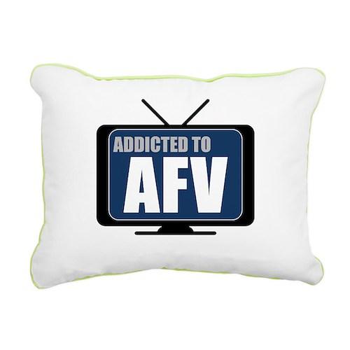 Addicted to AFV Rectangular Canvas Pillow