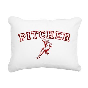 Pitcher - Red Rectangular Canvas Pillow