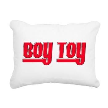 Boy Toy - Red Rectangular Canvas Pillow