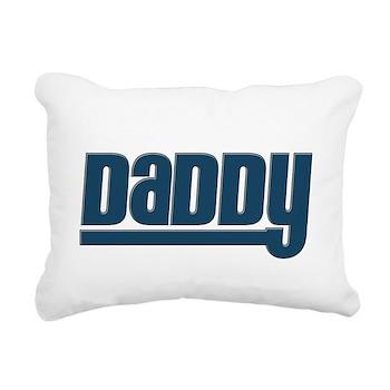 Daddy - Blue Rectangular Canvas Pillow