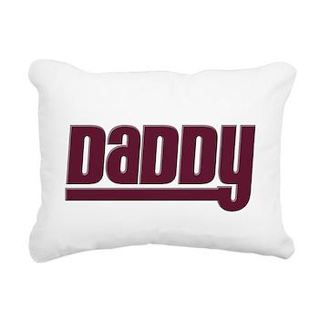 Daddy - Red Rectangular Canvas Pillow