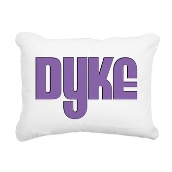 Purple Dyke Rectangular Canvas Pillow