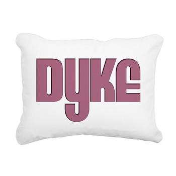 Pink Dyke Rectangular Canvas Pillow
