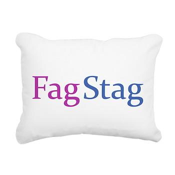 Fag Stag Rectangular Canvas Pillow