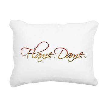 Flame Dame Rectangular Canvas Pillow