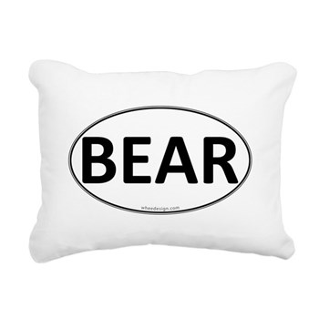 BEAR Euro Oval Rectangular Canvas Pillow