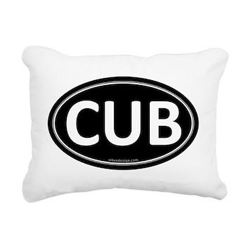 CUB Black Euro Oval Rectangular Canvas Pillow