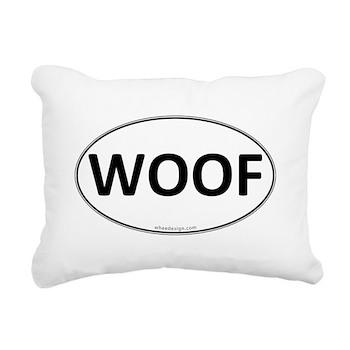 WOOF Euro Oval Rectangular Canvas Pillow