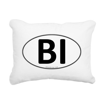 BI Euro Oval Rectangular Canvas Pillow