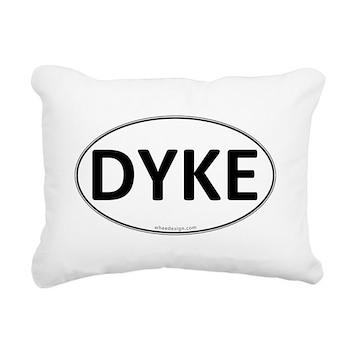DYKE Euro Oval Rectangular Canvas Pillow