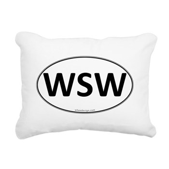 WSW Euro Oval Rectangular Canvas Pillow