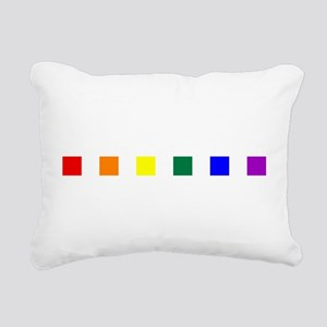 Rainbow Pride Squares Rectangular Canvas Pillow