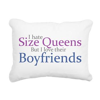 I Hate Size Queens Rectangular Canvas Pillow