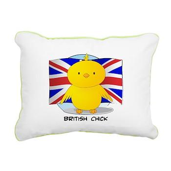 British Chick Rectangular Canvas Pillow