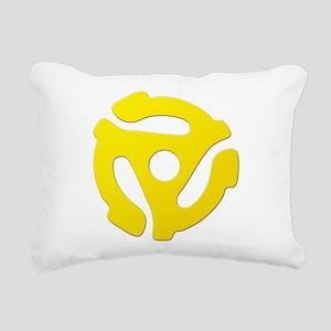 Yellow 45 RPM Adapter Rectangular Canvas Pillow