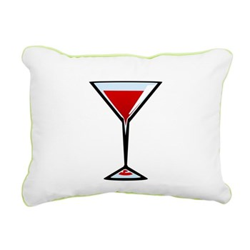 Vampire Martini Rectangular Canvas Pillow