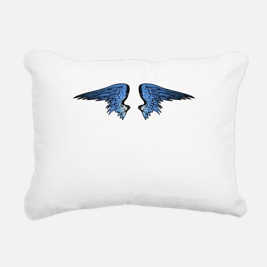 Blue Angel Wings Rectangular Canvas Pillow