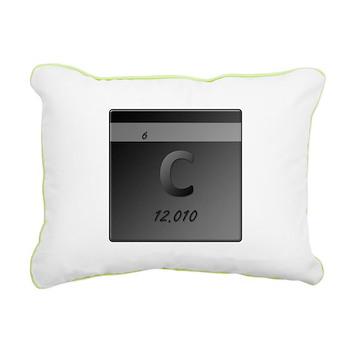 Carbon (C) Rectangular Canvas Pillow