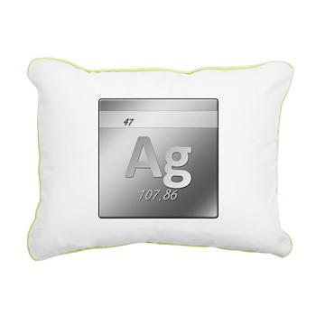 Silver (Ag) Rectangular Canvas Pillow
