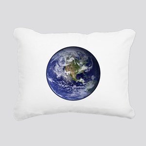 Western Earth from Space Rectangular Canvas Pillow