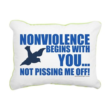Nonviolence Begins with You.. Rectangular Canvas P
