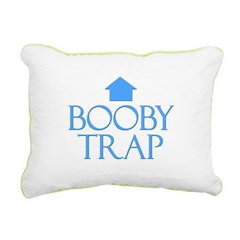 Booby Trap Rectangular Canvas Pillow