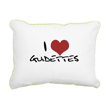 I Heart Guidettes Rectangular Canvas Pillow