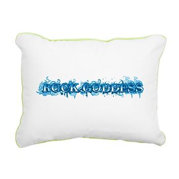 Rock Goddess Rectangular Canvas Pillow